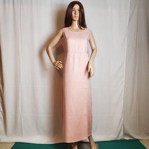 Jones New York Light Pink Linen Maxi Dress in a 10